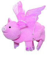 J21263 Flying Pig Hat With Flapping Wings - $9.88
