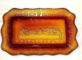 Amber Last Supper TrayAA18-1322 Vintage image 3