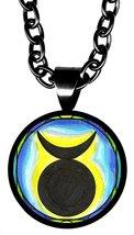 """Horned God 5/8"""" Mini Stainless Steel Black Pend... - $21.95"""