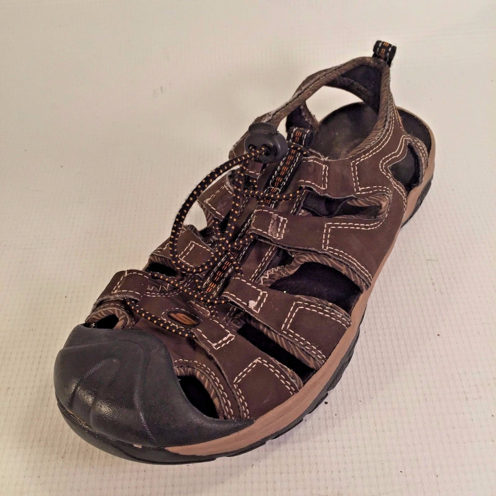 SKECHERS Youth Kids Size 3 Brown Fisherman Sandals BUNGEE 35 EUR