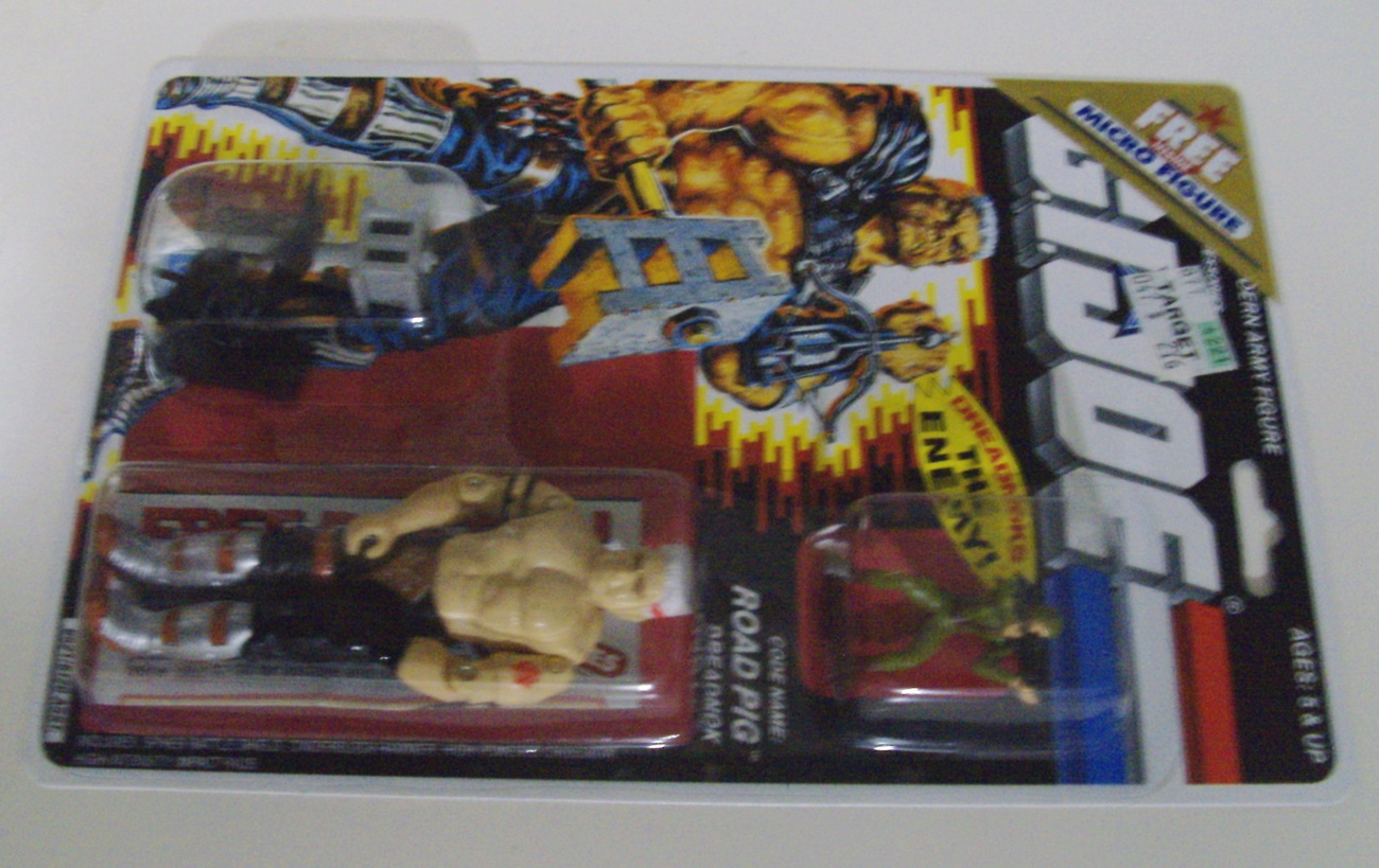 dGI Joe Cobra Vintage Dreadnok Road Pig w/ free Micro Figure Mint On Card - New