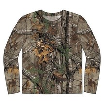 Realtree Extra pour Homme Manches Longues Coton Camouflage Chasse T-Shirt - $18.04