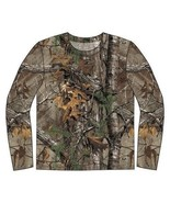 Realtree Extra pour Homme Manches Longues Coton Camouflage Chasse T-Shirt - $17.61