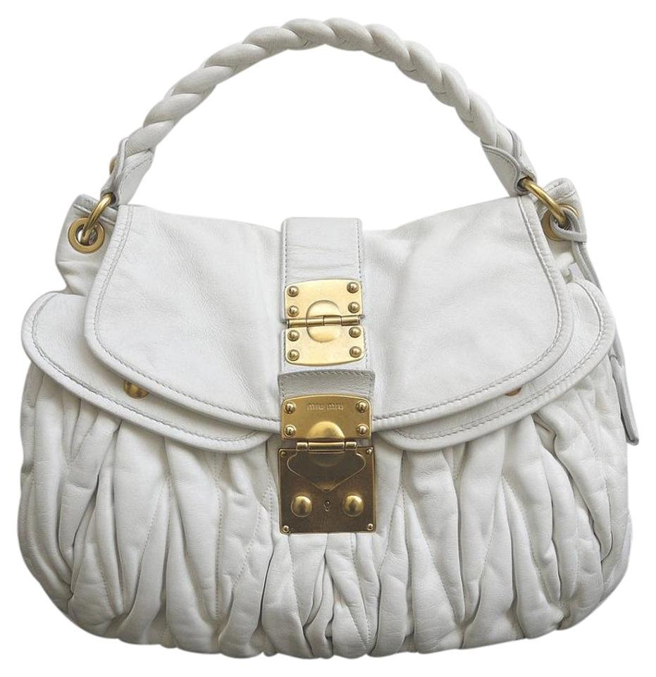 MIU MIU by Prada White Leather Coffer and 50 similar items 2ee9ce812bddb