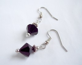 Simple Drop Earrings Black and Silver - $10.00