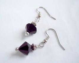 Simple Drop Earrings Black and Silver - $10.00