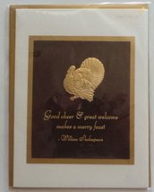 "Greeting Thanksgiving Card ""Good Cheer & Great Welcome Makes a Merry Feast"" - $5.95"