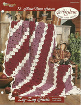 Needlecraft Shop Crochet Pattern 972041 Zig Zag Shells Afghan Collectors... - $4.99