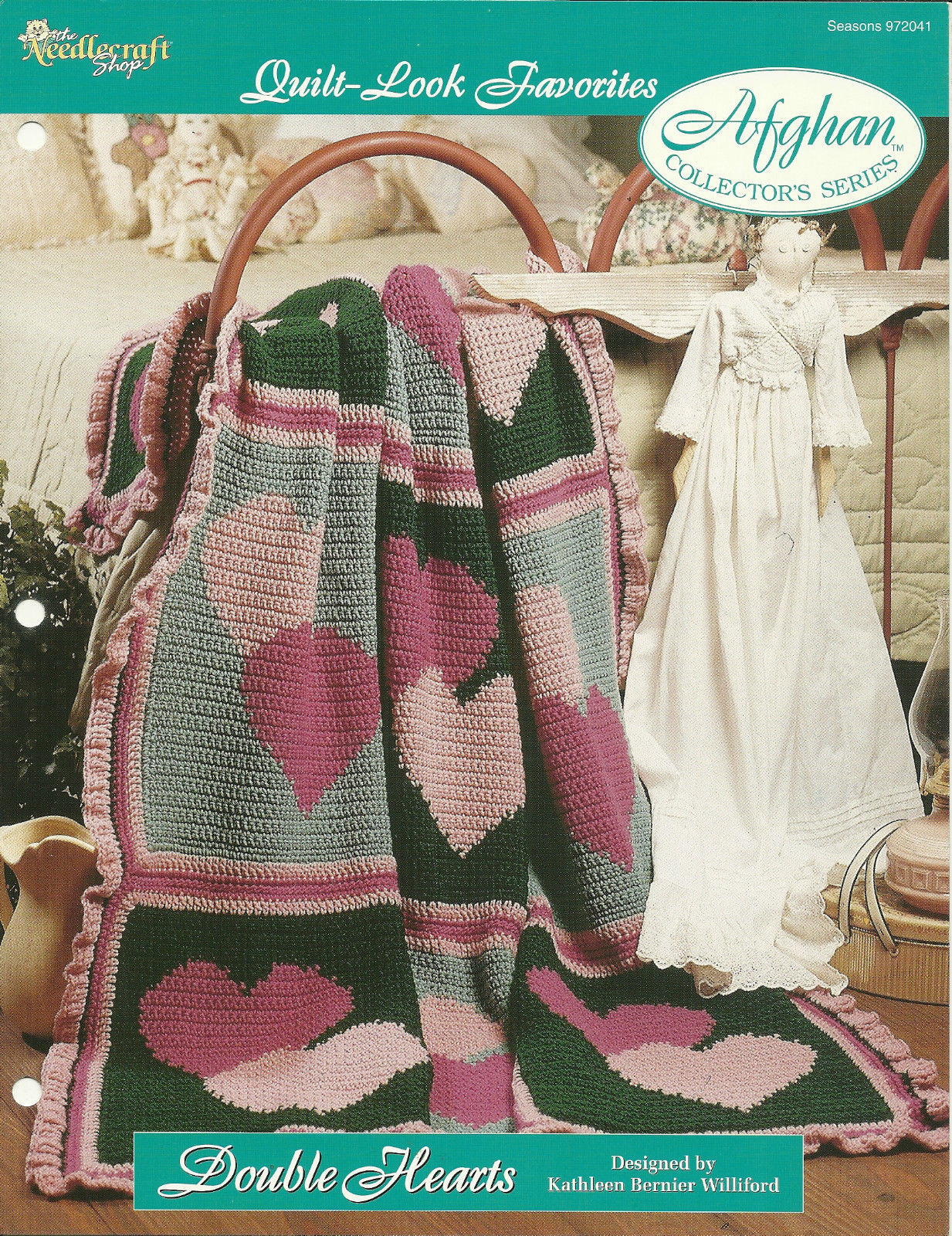 Needlecraft Shop Crochet Pattern 972041 Double Hearts Afghan Collectors Series