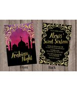 Arabian Nights Invitation Birthday Sweet Sixteen Bridal Shower Personalized - $1.45