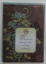 "Greeting Thanksgiving Card ""The Greatest Blessings in Life Are Family and Friend - $6.95"
