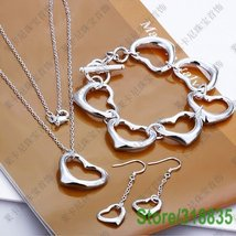 HEARTS heart necklace, earring & bracelet jewelry set - $24.99