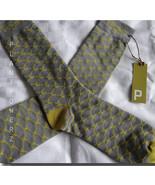 FREE SHIPPING 3 pairs quality bamboo cotton socks gray gold vegan design... - $12.86