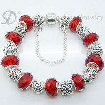 European Style Charm Bracelet Crystal Beads FREE SHIPPING 156 - £16.66 GBP