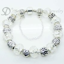 European Style Charm Bracelet Crystal Beads FREE SHIPPING 153 - £16.66 GBP