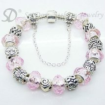 European Style Charm Bracelet Crystal Beads FREE SHIPPING 155 - £16.66 GBP