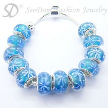 European Style Charm Bracelet Crystal Beads FREE SHIPPING 162 - £16.66 GBP