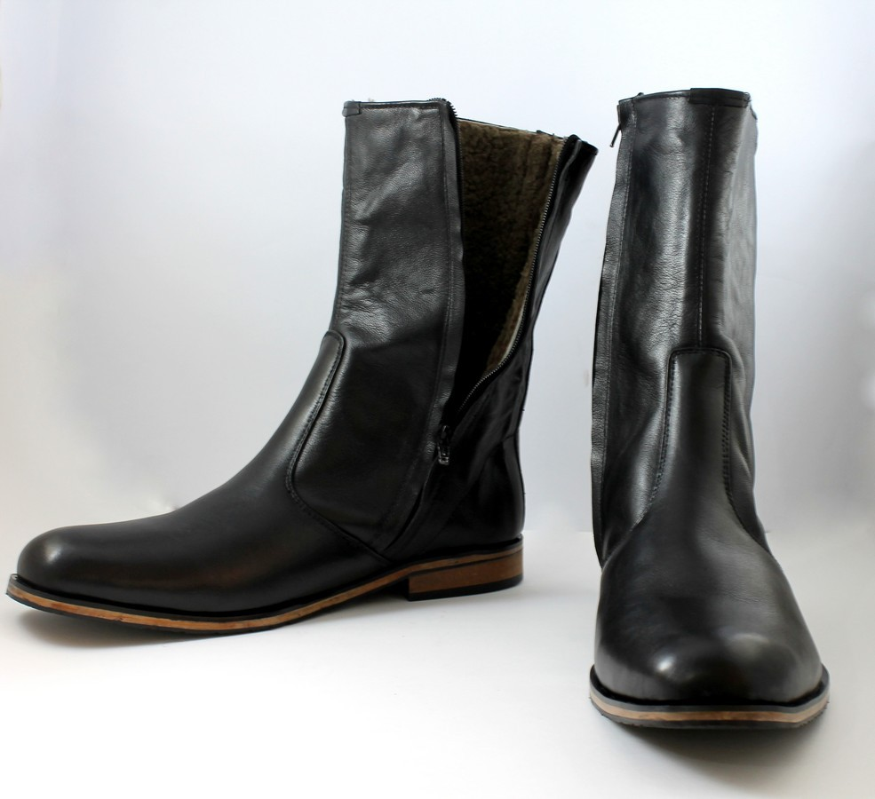 handmade black leather boots boot for