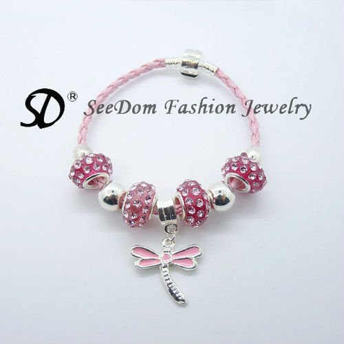 Free shipping crystal beads dragonf