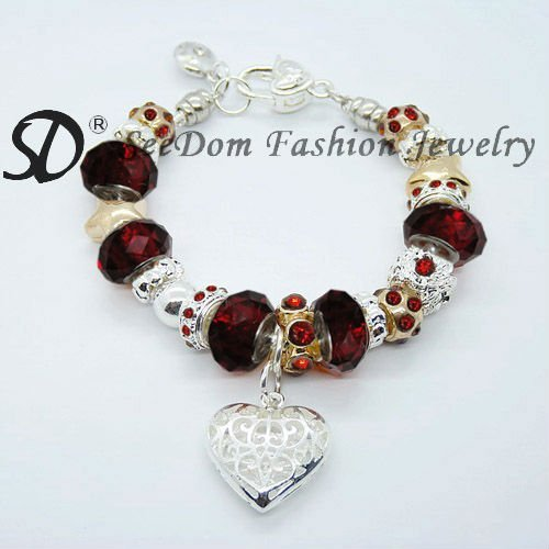 Free shipping red crystal beads jew