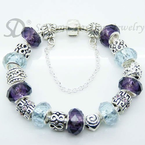 European Style Charm Bracelet Crystal Beads FREE SHIPPING 154