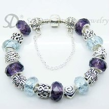 European Style Charm Bracelet Crystal Beads FREE SHIPPING 154 - $21.99