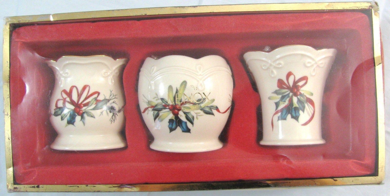 Lenox china candle holder listing