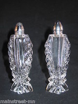 "Banquet Lead Crystal Salt & Pepper Set Art Deco 5 1/4"" Gorham? Gorgeous! - $31.90"
