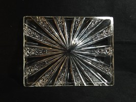 """EAPG Candy Tray 7 1/2"""" Rectangular Low Radiating Panels Buttons Stars Clear - $20.59"""