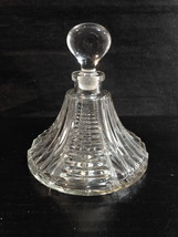 "EAPG Style Perfume Vanity Decanter Clear c1940-50 Notched Ladder 4""t x 3""d - $13.80"