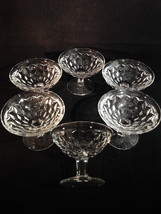 "Fostoria American LOW Sherbet 3"" Tall Round Foot Flared Rim Set of 6 Cle... - $21.07"
