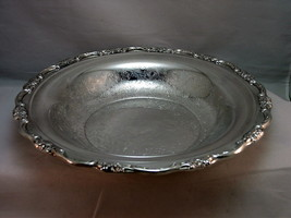 "International SilverPlate Serving Bowl 11"" Filigree Center Floral Scallo... - $29.93"