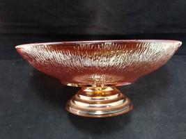 """Jeannette Glass Tree Bark Bowl 9"""" Dia Pedestal ... - $33.95"""