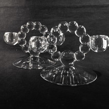Pair 400/100 Imperial CANDLEWICK Double 2 Light Candleholder Clear Elega... - $15.00