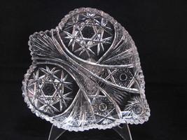 Krantz Smith ABP Brilliant Rich Cut Glass BonBon ALICIA c1904 Heart Shap... - $47.78