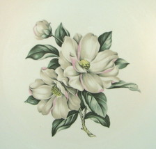 Laughlin Magnolia Rhythm Eggshell Oval Tray Sil... - $11.07