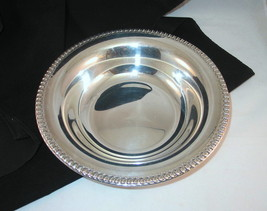 Wilcox Int Silver Vintage 10 in Round Silverplate Serving Bowl Brandon Hall - $25.98