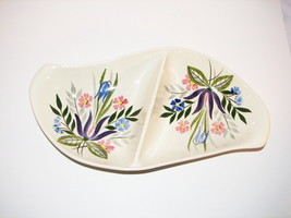 Red Wing Pottery Country Gardens Divided Serving Dish Anniversary Blank ... - $26.95