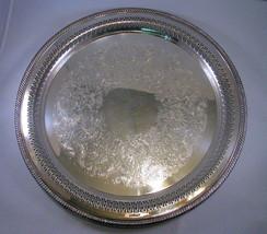 """WM Rogers Silverplate Pierced Serv Tray 15"""" Eagle/Star - $28.41"""