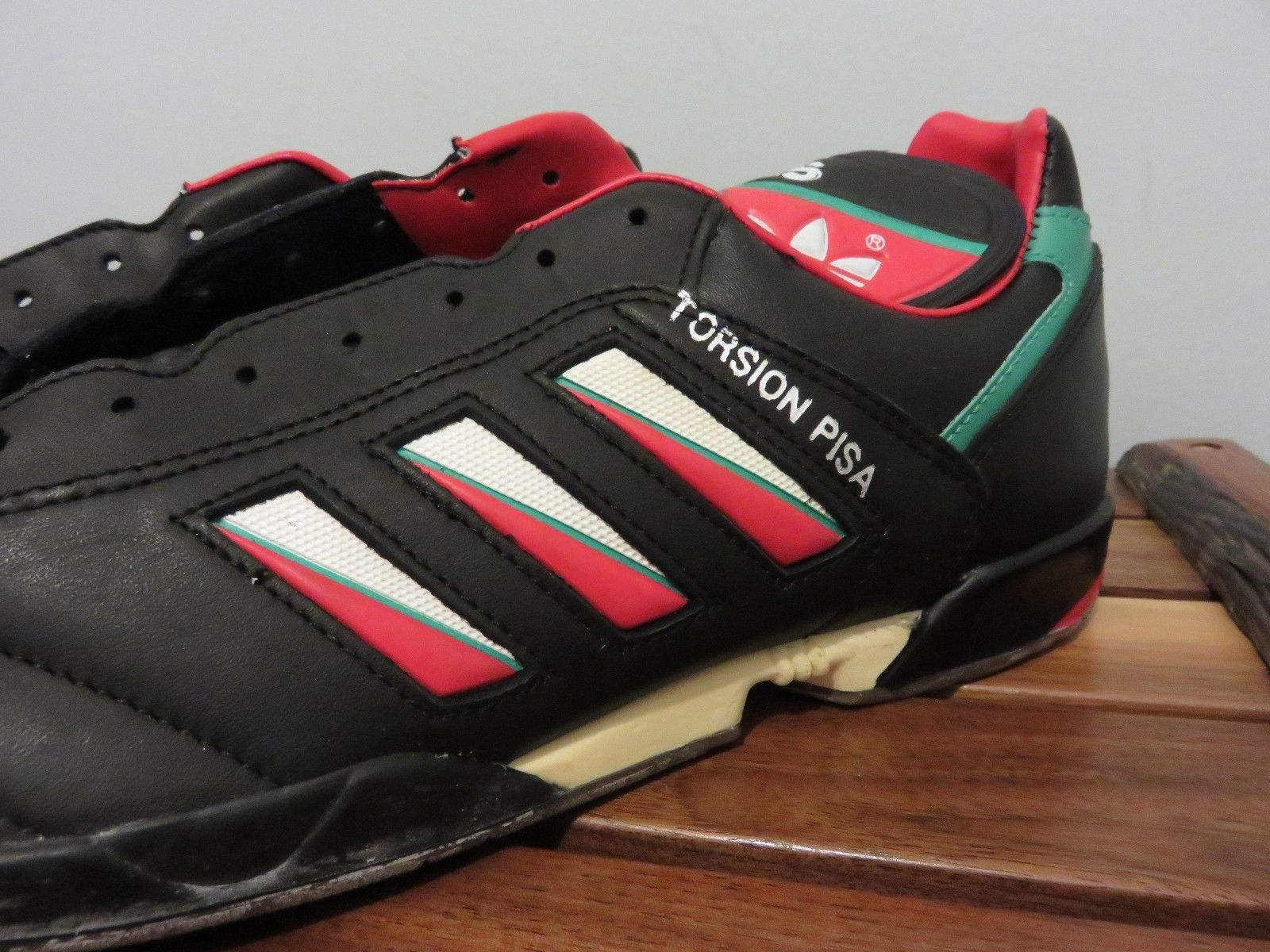 8e95717fb54 NOS NWT Adidas Torsion PISA Soccer Shoes Extremely RARE Tri-Foil 1990 World  Cup