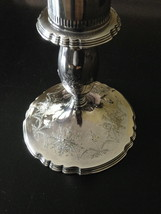 "Wilcox LADY MARY Cut Crystal Silverplate Hurricane Centerpiece Rare 16 1/2"" T image 7"