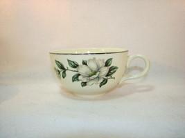 Laughlin Double Magnolia Rhythm Eggshell Coffee Cup Silver Rim K55N5 Set... - $11.34
