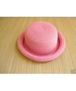 Salmon Pink Soft Straw Bowler Hat  sz. 22 - $10.00
