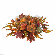 "30"" Harvest Center Table Arrangement, Thanksgiving Wedding Candles  holiday fall - $90.90"
