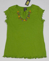 COPPER KEY GIRLS 7 TOP NWT GREEN FLORAL PURPLE YELLOW RED  FLOWERS SHIRT... - $10.93