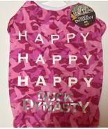 "Pink Duck Dynasty Pet Shirt NWT Sz XL 19-21"" HAPPY HAPPY - $6.99"