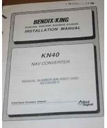 Bendix King KN40 NAV Converter Install Installation manual KN-40 - $148.50