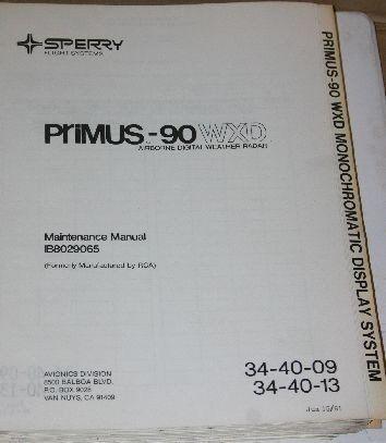 honeywell sperry primus 90 wxd weather radar and 50 similar items rh bonanza com Honeywell Primus Apex Honeywell Primus Avionics