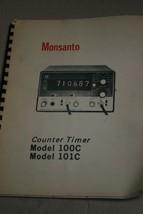 Monsanto Model 100C & 101C Counter Timer  Instruction Manual - $29.65