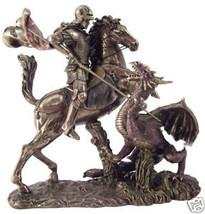 "Saint George Slaying the Dragon (Bronze) 10.5"" Statue - $127.40"